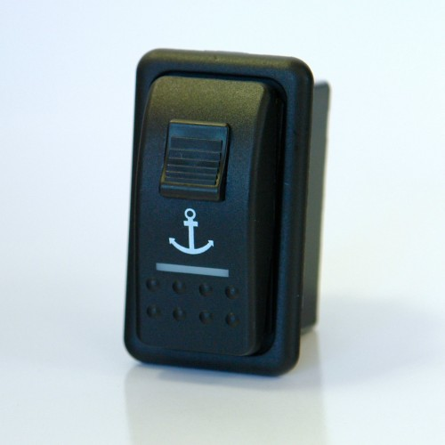 Carling Contura V Series Switch in Mounting Panel for Anchor / Winch Control