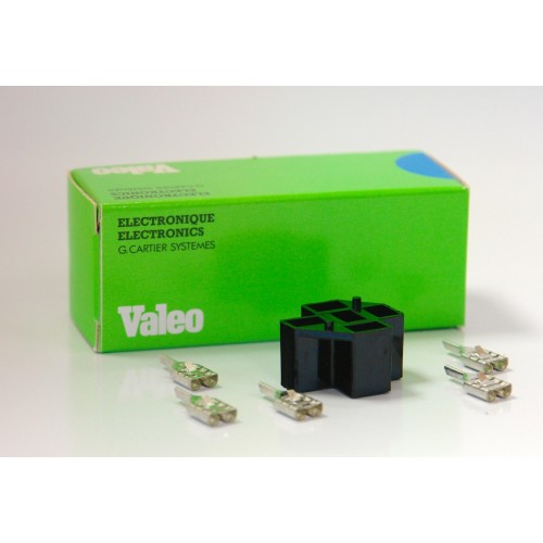 VALEO Relay Base Plug, 5 Ports, with Connectors, Part No. 649600. Pack of 10