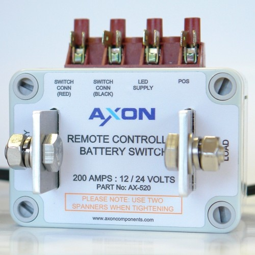 Remote Controlled Battery Switch - 200 amps, 12/24 volts - Marine or Automotive