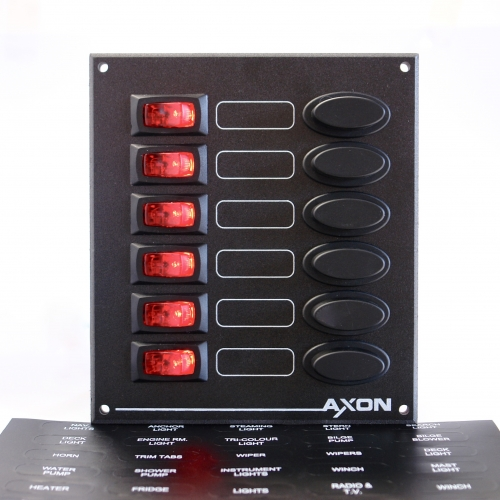 6 Way Illuminated Visi-Switch / Fuse Panel