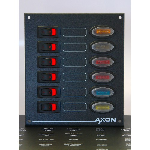 6 Way Rocker Switch Panel with Fuse Protection